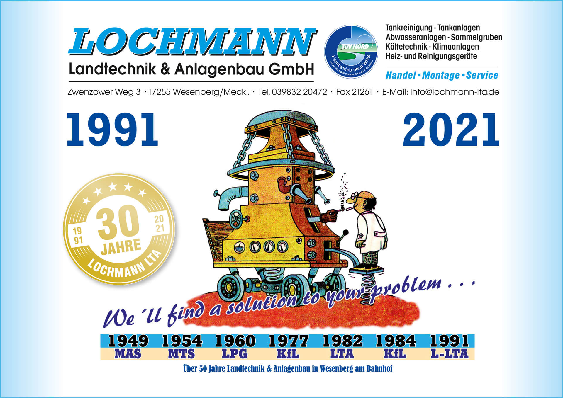 Kalender 2021 Lochmann LTA